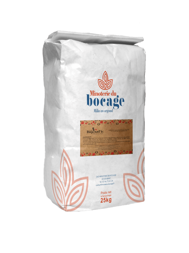 Sac farine 25 kg La Bigoud'Ic - Pain au sarrasin et chanvre